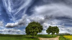 Fork In The Road Under Magical Skies Hdr wallpaper free Hd Widescreen Wallpapers, Spring Wallpaper, Wallpaper Backgrounds, Paths, Cool Photos, Places To Visit, Country Roads, Clouds, Shopping