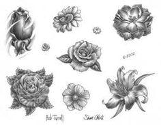 Resultado de imagen para dibujos de flores para tatuajes