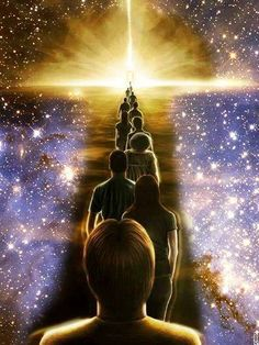 The spiritual awakening and ascension process is essentially a healing journey. Kingdom Come, The Kingdom Of God, Revelation Bible Study, Heaven Pictures, Jesus Photo, Jesus Christ Images, Prophetic Art, Sacred Art, Bible Art