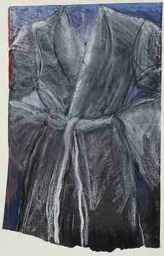The Robe - 1984.   Jim Dine - Oil, oil pastel, charcoal, cut and pasted paper on paper.