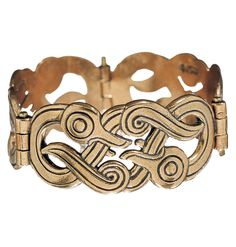 """IKU-TURSO BRACELET  Designer: Germund Paaer  material: bronze or silver. Kalevala Koru bracelets have their roots in antiquity. The prototype for this bracelet dates from 900-1000 A.D. It was worn by Finnish tribes living in Russia. Ornamental motifs were usually geometric; they were either stamped, cast or in some cases, engraved. One piece of jewelry was seldom enough for the women of antiquity. They often wore identical bracelets on each arm."""