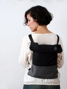 Cosas de tt. Bolso-mochila_ref.172 Sling Backpack, Backpacks, Sewing, Bag, Crafts, Fashion, Log Projects, Craft, Sew