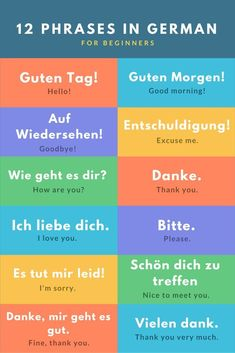 best basic German phrases for travel To celebrate our year in Europe, we wil. -The best basic German phrases for travel To celebrate our year in Europe, we wil. - German Language Learning Stickers More German Vocabulary Laminated Study Guide. Study German, German English, Learn English, Basic German Phrases, German Words, Italian Phrases, German Language Learning, Language Study, Dual Language