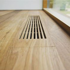 Idea for wood floor vents. Take extra pieces and make vents to match the flooring. Wood Architecture, Architecture Details, Interior Minimalista, House Ideas, Home Projects, Interior And Exterior, New Homes, Woodworking, Craftsman