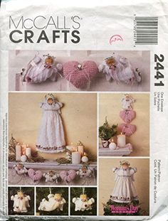 1999 UnCut McCalls's 2441 Craft Sewing Pattern - Angel Tree Topper, Wall Decorations, Ornaments and Garland Sewing Patterns For Kids, Mccalls Patterns, Simplicity Sewing Patterns, Craft Patterns, Angel Christmas Tree Topper, Angel Ornaments, Christmas Angels, Christmas Sewing, Christmas Crafts