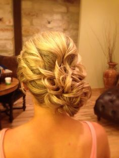 Wedding hair bridesmaid hair updo