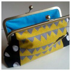 Black and Yellow Rhino Clutch by samaridesigns on Etsy, $45.00