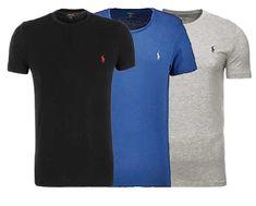 8addb78a9eb3aa Polo Ralph Lauren T-Shirt - Custom Fit - Rundhals - Small Pony - Gr