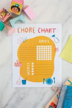Need some help getting your kids to do chores around the house? This free printable chore chart for kids helps organize kids' chores and gives them a sense of accomplishment! Free Printable Chore Charts, Chore Chart Kids, Gift Tags Printable, Free Printables, Freebies, Charts For Kids, Baby Crafts, Summer Kids, Diy For Kids