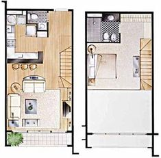Home Decoration Sale Clearance Tyni House, Loft House, Sims House, Loft Floor Plans, Small House Floor Plans, Mini Loft, Apartment Layout, Apartment Plans, Apartment Living