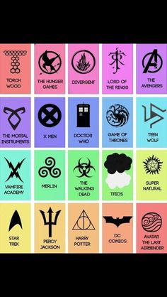 FANDOMS UNITE!!!!!! I got eight of mine in there.