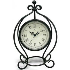 Amazon.com: Infinity Instruments The Gateway - Pewter Gray Metal Table Clock: Furniture & Decor