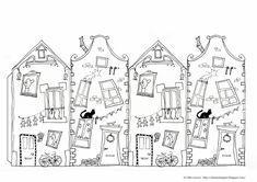 Casita Little house Kleines Häuschen Cardboard Paper, Paper Toys, Paper Crafts, Paper Paper, Coloring Pages For Kids, Coloring Sheets, Coloring Books, Kids Coloring, House Colouring Pages