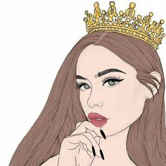 A una reina no se le cae la corona si confía en si misma Tumblr Girl Drawing, Tumblr Drawings, Drawing Girls, Hipster Drawings, Couple Drawings, Cute Wallpaper Backgrounds, Cute Wallpapers, Outline Drawings, Art Drawings