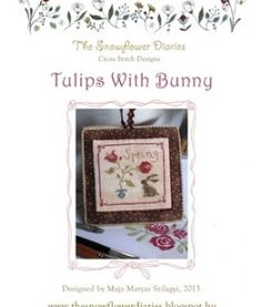 Tulips With Bunny - free cross stitch chart