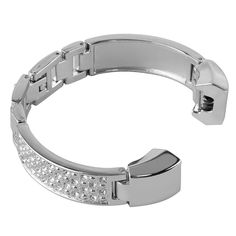 Wearlizer Lux Metal Bracelet Wrist Band Stainless Steel Replacement Strap for Fitbit Alta - Silver. Design for fitness tracker Fitbit Alta; Fits 4.6inch to 5.8 inch wrist. This elegant, stackable bracelet crafted of gleaming zircon designed to subtly hold a Fitbit Alta tracker. It is easy to insert the multitasking tracker (sold separately) and monitor your fitness and sleep patterns in style. Come with a stylish gift box, which makes it also a perfect gift idea for women and girls. This...