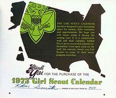 Girl Scouts 1973 calendar