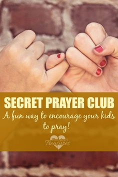 Want to encourage your kids to pray? Teach kids to pray the fun way with this secret prayer club!