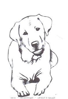 Labrador Retriever Dog for Coloring Page | ♥Ausmalbilder ...