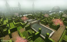 Garden maze illustration Game Design, Golf Courses, Maze, Garden, Illustration, Garten, Lawn And Garden, Labyrinths, Gardens