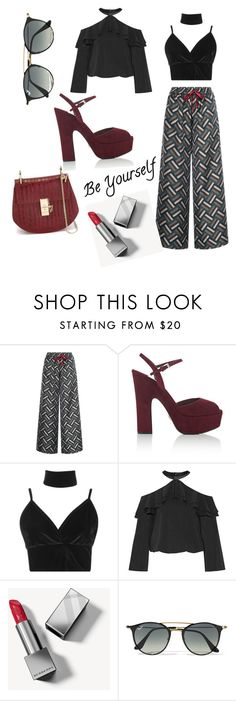 """""""Walking"""" by honeyberrie ❤ liked on Polyvore featuring F.R.S For Restless Sleepers, Prada, Boohoo, Alice + Olivia, Burberry, Ray-Ban and Chloé"""