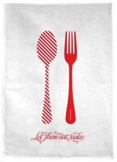let them eat cake tea towel