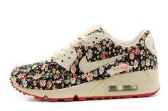 2e58617ec2b69 Nike Shoes Air Max 90 Womens Online Light Gray Flower Brown
