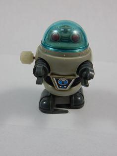 Tomy 1984 Pocket Bots Wind Up Robot Toy WORKS #TOMY