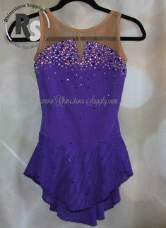 Custom beading using Preciosa Viva12 Rhinestones on a Brad Griffies Tanzanite dress