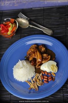 Cheats Nasi Lemak with Chicken Curry