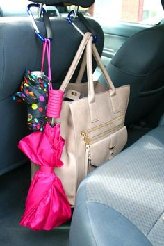 http://HGTV.com shares tips on how to organize your car with items you can find at the dollar store.