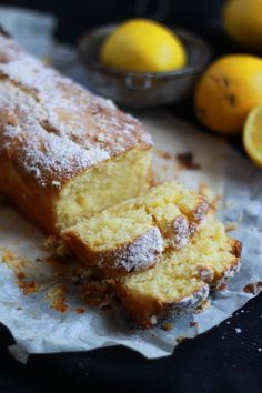 Lemon cake: 125 g butter 3 egg yolks + 1 egg 200 g of powdered sugar 200 g flour teaspoon baking powder 1 pinch of salt 180 g mascarpone juice of 2 organic lemon zest of one lemon Just Desserts, Delicious Desserts, Yummy Food, Sweet Recipes, Cake Recipes, Dessert Recipes, Mascarpone Cake, Mascarpone Cheese, Sweet Bread