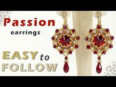 how to make beaded earrings  beading tutorial - YouTube