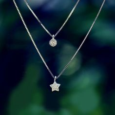 Sisters Star and round Pendant Necklace - Necklaces - Vinster Fashion
