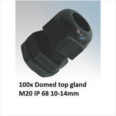 100x Black Nylon Dome Top Compression Cable Gland IP68 20mm 10mm-14mm on eBid United Kingdom