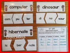 Multisyllabic Open Syllables$ Activities- good activities like this one are so hard to find- love this one!