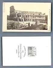 Fratelli Toncker, Italie, Rome, Colisée  CDV vintage albumen. Vintage Italy  T