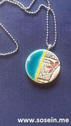 """Cho Oyu"" Kette mit Keramikanhänger Anhänger 3,5 cm Durchmesser / Kette 28 cm lang Jeder Anhänger ist ein Unikat! Künstlerin Martina Piller, Bruck a.d. Leitha, Österreich Preis: EUR 17,-- + 2,50 Porto Ceramic Pendant, Ceramic Jewelry, Shops, Pottery, Pendant Necklace, Jewels, Porto, Jewel, Handmade Jewelry"