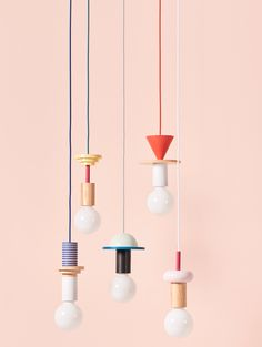 8 Cheap Things to Maximize a Small Bedroom Junit Record Pendant by on sale now at Lamp Design, Lighting Design, Ste Marguerite, Lite Brite, I Love Lamp, Memphis Design, Paperclay, Pendant Lighting, Light Fixtures