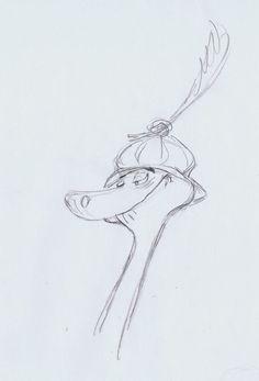 Pocket : Ken Anderson's Robin Hood Disney Sketches, Disney Drawings, Character Design Animation, Character Design References, Disney Style, Disney Art, Ken Anderson, Principles Of Animation, Pencil Test
