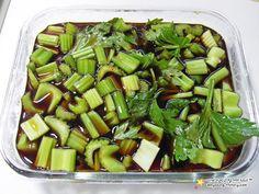 Korean Dishes, Korean Food, Easy Cooking, Cooking Recipes, Desert Recipes, Kimchi, Celery, Green Beans, Vegetarian Recipes