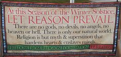 """Atheist Group's """"Let Reason Prevail"""" Banner, Placed Outside Indiana Courthouse, Stolen"""