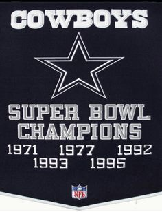 Dallas Cowboys...3 OUT OF 5... This 90's Dynasty was so exciting to watch.