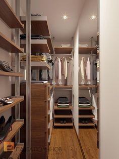 Фото: Гардеробная - Квартира в современном стиле с элементами лофта, ЖК «Эдельвейс», 102 кв.м.