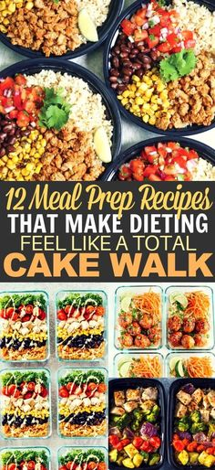 Lunch Ideas for Weight Loss That're so Easy These healthy recipes are the perfect meal prep for the week for beginners!These healthy recipes are the perfect meal prep for the week for beginners! Best Meal Prep, Easy Healthy Meal Prep, Weekly Lunch Meal Prep, Healthy Meal Planning, Easy Meal Prep Lunches, Meal Prep Salads, Meal Prep Keto, Healthy Recipes For One, Recipies Healthy