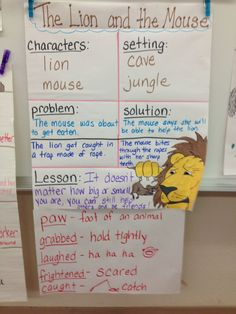 The Lion and the Mouse - RL.1.2