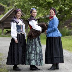 Staselige damer fra Gudbrandsdalen. Foto: Heidi Fossnes, Magasinet BUNAD. Norway Culture, Folk Costume, Costumes, All Things, Tulle, Skirts, Beauty, Dresses, Fashion