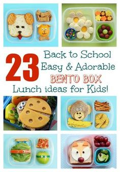 23 Back to School EASY & Adorable Bento Lunch ideas for Kids!