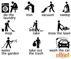 Good English verbs for cleaning the house Teaching English Grammar, English Writing Skills, English Vocabulary Words, Learn English Words, English Language Learning, German Language, Japanese Language, Teaching Spanish, Spanish Language