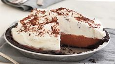 Rebecca's Black Bottom Icebox Pie - Chilled Summer Pies - Southern Living - With a rich, creamy filling and melt-in-your-mouth crust, this is quite possibly the best chocolate pie ever.   Recipe:Rebecca's Black Bottom Icebox Pie